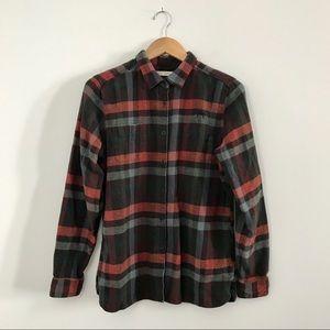 Woolrich Pemberton Plaid Flannel Shirt Orange L A7